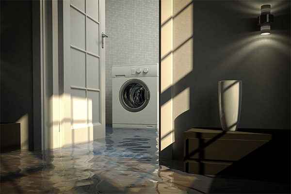 water damage washing machine